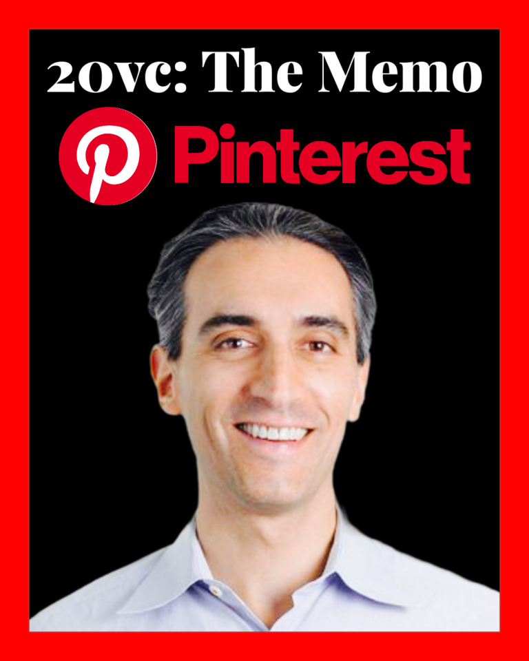 Jeremine Levine joins us on 20vc to discuss the Pinterest memo